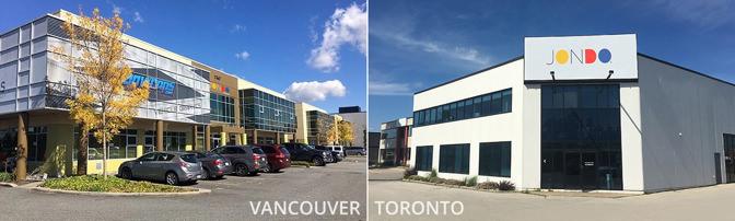 Vancouver Toronto Canada Facilities | JONDO